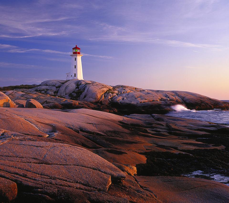 Peggys Point Lighthouse, Peggys Cove/ Phare de Peggy's Point, Peggy's Cove, Nova Scotia/Nouvelle-Écosse