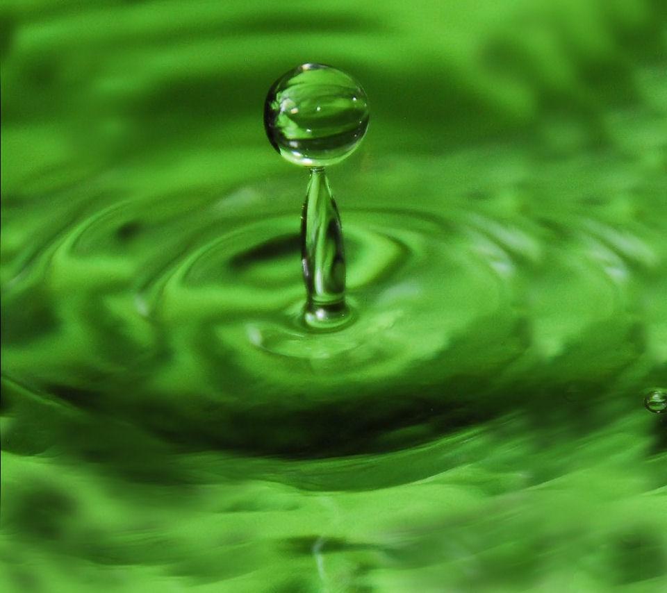 green-water-drop